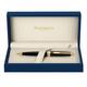 Ручка шариковая WATERMAN «Exception Black GT Slim», корпус нержавеющая сталь, позолоченные детали, синяя