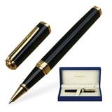 Ручка-роллер WATERMAN «Exception Black GT Slim», корпус нержавеющая сталь, позолоченные детали, черная