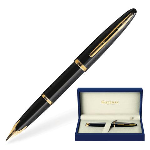 Ручка перьевая WATERMAN «Carene Black Sea GT», корпус нержавеющая сталь, позолоченные детали, синяя