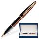 Ручка перьевая «WATERMAN Carene Marine Amber GT», корпус нержавеющая сталь, позолоченные детали, синяя