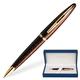 Ручка шариковая WATERMAN «Carene Marine Amber GT», корпус нержавеющая сталь, позолоченные детали, синяя