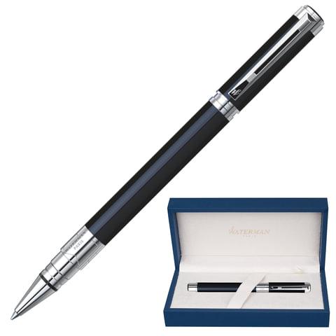 Ручка-роллер WATERMAN «Perspective Black CT», корпус латунь, никель-палладиевое покрытие, черная
