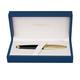 Ручка перьевая WATERMAN «Carene Essential Black GT», корпус нержавеющая сталь, позолоченные детали, синяя