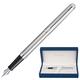 Ручка перьевая WATERMAN «Hemisphere Stainless Steel CT», корпус нержавеющая сталь, покрытие хром, синяя