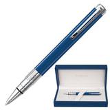 Ручка шариковая WATERMAN «Perspective Deluxe CT», корпус синий, нержавеющая сталь, палладиевое покрытие деталей, 1904579, синяя