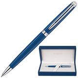 Ручка шариковая WATERMAN «Hemisphere CT», корпус синий, нержавеющая сталь, палладиевое покрытие деталей, 1904603, синяя