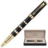 Ручка PARKER «5-й пишущий узел» «Ingenuity Rubber&Metal GT», корпус черный, латунь, позолоченные детали, 1858532, черная