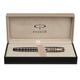 Ручка перьевая PARKER «Sonnet Brown Rubber Lacquer PGT», корпус латунь, лак, позолоченные детали, черная