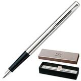 Ручка перьевая PARKER «Jotter Stainless Steel CT», корпус нержавеющая сталь, хромированные детали, черная