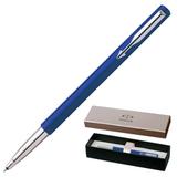 Ручка-роллер PARKER «Vector Standart Blue CT», корпус синий, пластик, хромированные детали, синяя