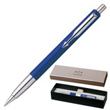 Ручка шариковая PARKER «Vector Standart Blue CT», корпус синий, пластик, нержавеющая сталь, синяя