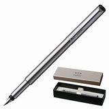 Ручка перьевая PARKER «Vector Stainless Steel CT», корпус стальной серый, нержавеющая сталь, хромированные детали, черная