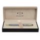 Ручка шариковая PARKER «Sonnet Chiselled Silver GT», корпус серебро, латунь, позолоченные детали, синяя