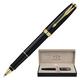 Ручка-роллер PARKER «Sonnet Black Lacquer GT», корпус черный, латунь, лак, позолоченные детали, черная