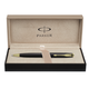 Ручка шариковая PARKER «Sonnet Black Lacquer GT», корпус черный, латунь, лак, позолоченные детали, черная