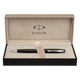 Ручка шариковая PARKER «Sonnet Black Lacquer CT», корпус черный, латунь, лак, хромированные детали, черная