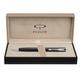 Ручка шариковая PARKER «Sonnet Matte Black CT Slim», корпус латунь, хромированные детали, черная