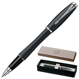 Ручка-роллер PARKER «Urban Muted Black CT», корпус черный, латунь, лак, хромированные детали, черная