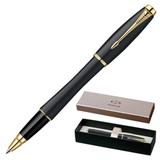 Ручка-роллер PARKER «Urban Muted Black GT», корпус черный, латунь, лак, позолоченные детали, черная