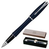 Ручка-роллер PARKER «Urban Night Sky Blue CT», корпус темно-синий, латунь, хромированные детали, S0850460, черная