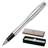 Ручка-роллер PARKER «Urban Metro Metallic CT», корпус нержавеющая сталь, хромированные детали, синяя