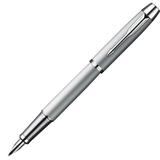 Ручка перьевая PARKER IM Silver CT, корпус серый, латунь, лак, хромированные детали, черная