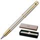 Ручка перьевая PARKER «IM Brushed Metal GT», корпус шампань, латунь, позолоченные детали, черная