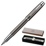 Ручка перьевая PARKER «IM Gun Metal CT», корпус латунь, лак, хромированные детали, черная