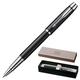 Ручка-роллер PARKER «IM Black Lacquer CT», корпус латунь, лак, хромированные детали, черная