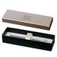 Ручка-роллер PARKER «IM Silver Lacquer CT», корпус серый, латунь, лак, хромированные детали, черная