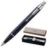 Ручка шариковая PARKER «IM Blue Lacquer CT», корпус синий лак, латунь, хромированные детали, S0856460, синяя
