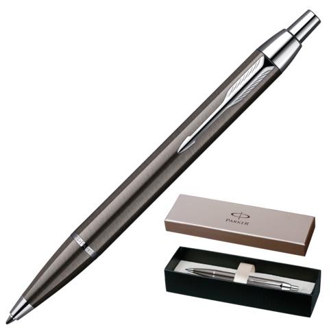 Ручка шариковая PARKER «IM Gun Metal CT», корпус латунь, лак, хромированные детали, черная