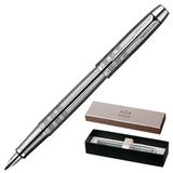 Ручка перьевая PARKER «IM Premium Shiny Chrome Chiselled CT», корпус латунь, хромированные детали, черная
