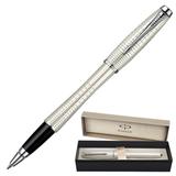 Ручка-роллер PARKER «Urban Premium Pearl Metal Chiselled», корпус латунь, хромированные детали, черная