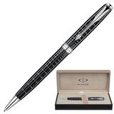 Ручка шариковая PARKER «Sonnet Dark Grey Lacquer CT», корпус латунь, лак, хромированные детали, черная