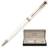 Ручка шариковая PARKER «Sonnet Pearl Lacquer PGT», корпус латунь, лак, позолоченные детали, черная