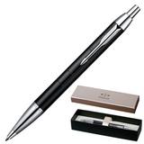 Ручка шариковая PARKER «IM Premium Matte CT», корпус черный, матовый лак, латунь, хромированные детали, S0949680, синяя
