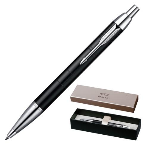 Ручка шариковая PARKER «IM Premium Matt Black CT», корпус черный, латунь, хромированные детали, синяя