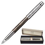 Ручка PARKER «5-й пишущий узел» «IM Premium Twin Chiselled CT», корпус латунь, хромированные детали, черная