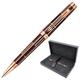 Ручка шариковая PARKER «Premier Luxury Brown PGT», корпус латунь, лак, позолоченные детали, черная