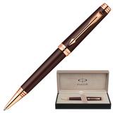 Ручка шариковая PARKER «Premier Soft Brown PGT», корпус латунь, лак, позолоченные детали, черная