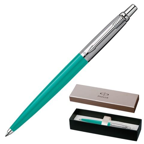 Ручка шариковая PARKER «Jotter Tactical Coral BP», корпус зеленый, пластик, нержавеющая сталь, синяя