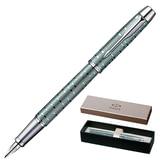 Ручка перьевая PARKER «IM Premium Vacumatic Emerald Pearl CT», корпус изумрудно-жемчужный, алюминий, хромированные детали, синяя
