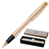 Ручка перьевая PARKER «Urban Premium Vacumatic Golden Pearl», корпус аллюминий, хромированные детали, синяя