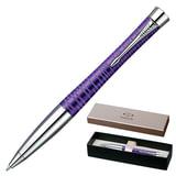 Ручка шариковая PARKER «Urban Premium Vacumatic», корпус фиолетовый, алюминий, хромированные детали, 1906862, синяя
