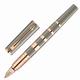 Ручка PARKER «5-й пишущий узел» «Ingenuity Lacquer PGT», корпус серый лак, латунь, позолоченные детали, 1858538, черная