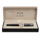 Ручка PARKER «5-й пишущий узел» «Ingenuity Black Lacquer CT», корпус латунь, хромированные детали, черная