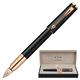 Ручка PARKER «5-й пишущий узел» «Ingenuity Black Rubber PGT», корпус латунь, позолоченные детали, черная