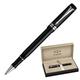 Ручка-роллер PARKER «Duofold Black PT International», корпус акриловый, палладиевые детали, синяя