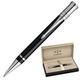 Ручка шариковая PARKER «Duofold Black PT International», корпус акриловый, палладиевые детали, черная